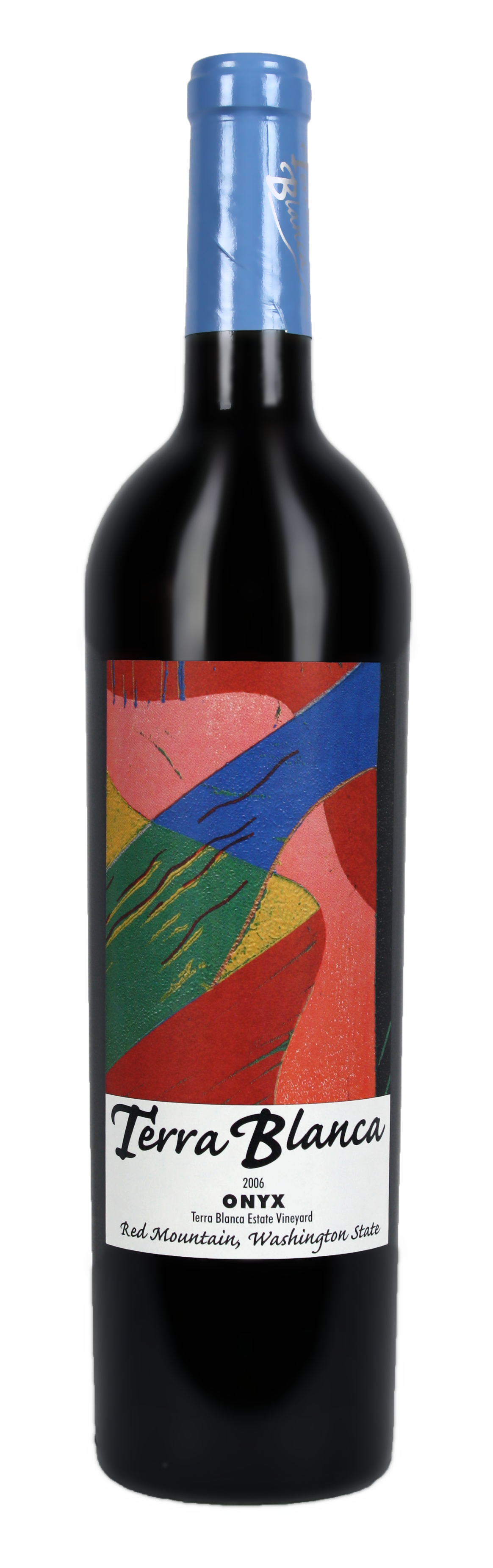 06 Onyx bottle - Terra Blanca – White Earth. Blue Skies. Red Mountain.