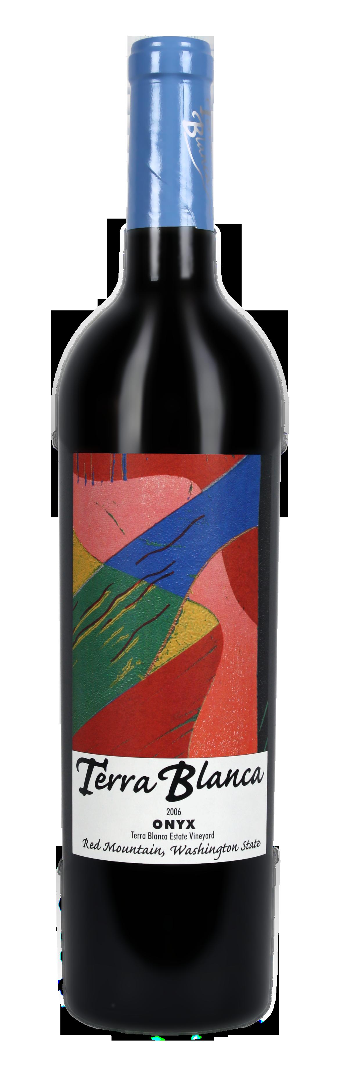 06 Onyx bottle - Terra Blanca – White Earth. Blue Skies. Red Mountain.